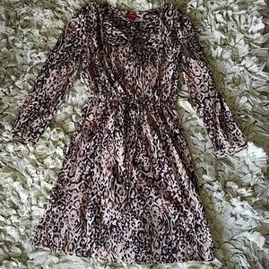 Flowy leopard dress